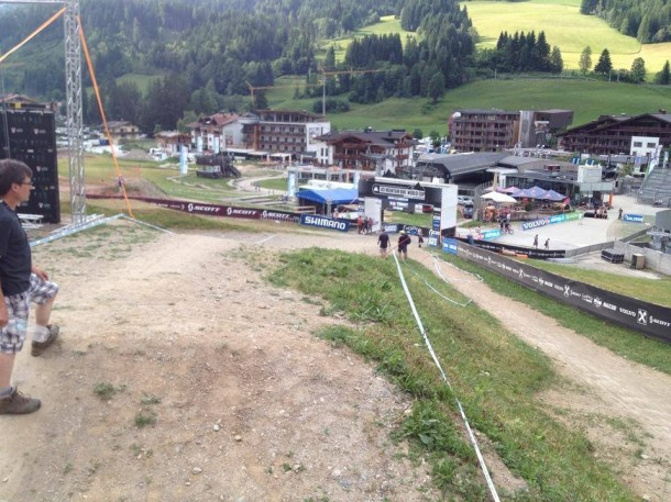 Leogang finish line